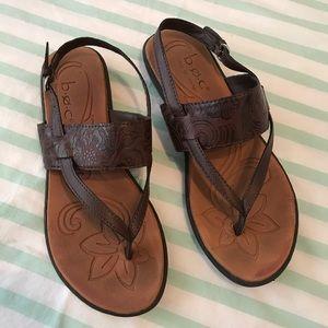BOC Brown Vegan Friendly Faux Leather Sandal 7